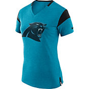 Nike Women's Carolina Panthers Fan V Blue T-Shirt