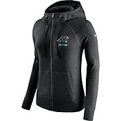 Nike Women's Carolina Panthers Gym Vintage Full-Zip Black Hoodie