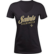 New Era Women's New Orleans Saints Glitter Black T-Shirt