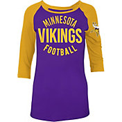 5th & Ocean Women's Minnesota Vikings Purple Raglan Shirt