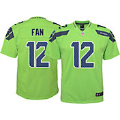 Nike Youth Color Rush Game Jersey Seattle Seahawks Fan #12