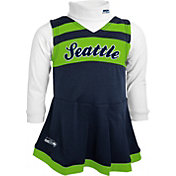 NFL Team Apparel Girls' Seattle Seahawks Cheer Navy Jumper