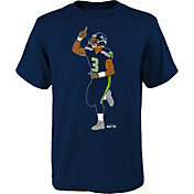 NFL Team Apparel Youth Seattle Seahawks Russell Wilson Touchdown Celebration T-Shirt