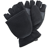 QuietWear Men's Waterproof Fleece Flip Mittens