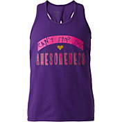 Reebok Girls' Cotton Keyhole Back Awesomeness Graphic Tank Top