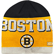 CCM Men's Boston Bruins Wordmark Knit Beanie