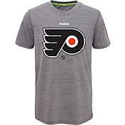 Reebok Youth Philadelphia Flyers Center Ice TNT Grey Performance T-Shirt