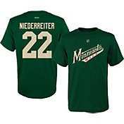 Reebok Youth Minnesota Wild Nino Niederreiter #22 Replica Player T-Shirt