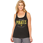 Soft As A Grape Women's Pittsburgh Pirates Black Tri-Blend Tank Top