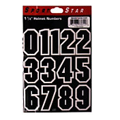 Sportstar Black Number Helmet Stickers