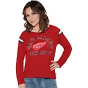 Touch By Alyssa Milano Women's Detroit Red Wings Cascade Long Sleeve T-Shirt