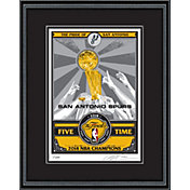 That's My Ticket San Antonio Spurs Finals Trophy Sports Propaganda Framed Serigraph
