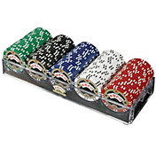 Trademark Poker 100 ESPN Assorted Championship Edition Chip Poker Set