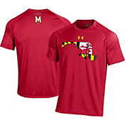 Under Armour Men's Maryland Terrapins Red 'Maryland Pride' Tech Performance T-Shirt