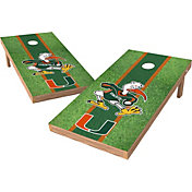 Wild Sports 2' x 4' Miami Hurricanes XL Tailgate Bean Bag Toss Shields
