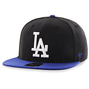 '47 Men's Los Angeles Dodgers Black Sure Shot Adjustable Snapback Hat