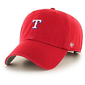 '47 Men's Texas Rangers Base Runner Clean Up Red Adjustable Hat