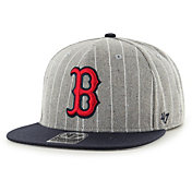 '47 Men's Boston Red Sox Grey Holbrook Adjustable Snapback Hat