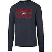 '47 Men's Houston Texans Club Navy Long Sleeve Shirt