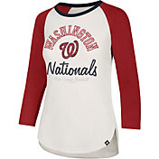 '47 Women's Washington Nationals Splitter Raglan Three-Quarter Sleeve Shirt
