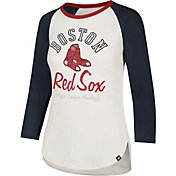 '47 Women's Boston Red Sox Splitter Raglan Three-Quarter Sleeve Shirt