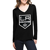 '47 Women's Los Angeles Kings Splitter Black Long Sleeve T-Shirt