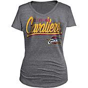 New Era Women's Cleveland Cavaliers Tri-Blend Grey V-Neck T-Shirt