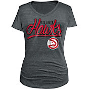 New Era Women's Atlanta Hawks Tri-Blend Grey V-Neck T-Shirt