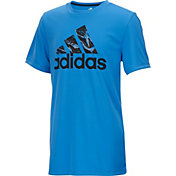 adidas Boys' Pattern Fill Logo T-Shirt