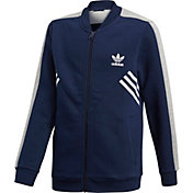 adidas Originals Boys' 3-Stripe Fleece Track Jacket