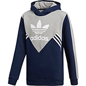 adidas Originals Boys' 3-Stripe Fleece Hoodie