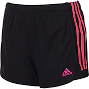 adidas Girls' 3-Stripes Mesh Shorts