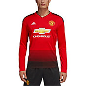 adidas Men's Manchester United 2018 Stadium Home Replica Long Sleeve Jersey