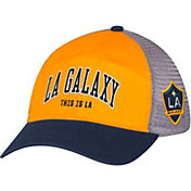 adidas Men's LA Galaxy Yellow/Navy Mesh Back Adjustable Hat