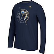 adidas Men's Philadelphia Union Uncovered Ultimate Navy Long Sleeve T-Shirt