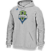 adidas Men's Seattle Sounders Grey Logo Hoodie