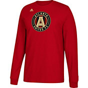 adidas Men's Atlanta United Logo Red Long Sleeve Shirt