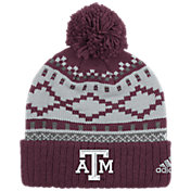 adidas Men's Texas A&M Aggies Maroon Cuffed Pom Knit Beanie