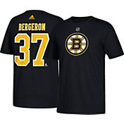 adidas Men's Boston Bruins Patrice Bergeron #37 Black T-Shirt
