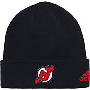 adidas Men's New Jersey Devils Basic Red Knit Beanie