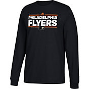 adidas Men's Philadelphia Flyers Dassler Black Long Sleeve Shirt