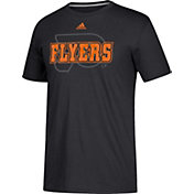 adidas Men's Philadelphia Flyers Go-To Shift Black Performance T-Shirt