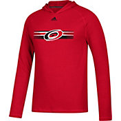 adidas Men's Carolina Hurricanes Journeyman Ultimate Red Performance Pullover Hoodie