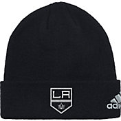 adidas Men's Los Angeles Kings Basic Black Knit Beanie