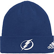 adidas Men's Tampa Bay Lightning Basic Navy Knit Beanie