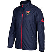 adidas Men's Florida Panthers Authentic Rink Navy Full-Zip Jacket