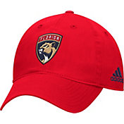 adidas Men's Florida Panthers Basic Red Slouch Adjustable Hat