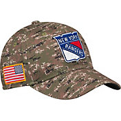 adidas Men's New York Rangers Camo Structured Fitted Flex Hat