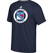 adidas Men's New York Rangers Practice Ultimate Navy Performance T-Shirt