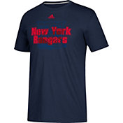 adidas Men's New York Rangers Go-To Shift Navy Performance T-Shirt